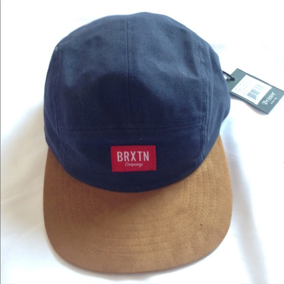 846695c7998 Brixton Finnigan Suede Rim Hat Navy Blue NWT